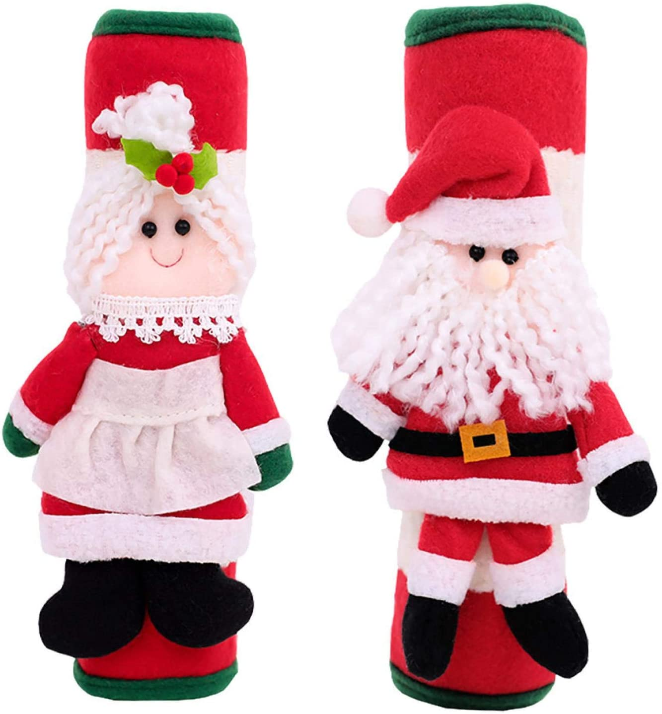 Winter Christmas Refrigerator Door Handle Cover Kitchen Appliances Glove Protector Protect You All Winter and Christmas Comfortably