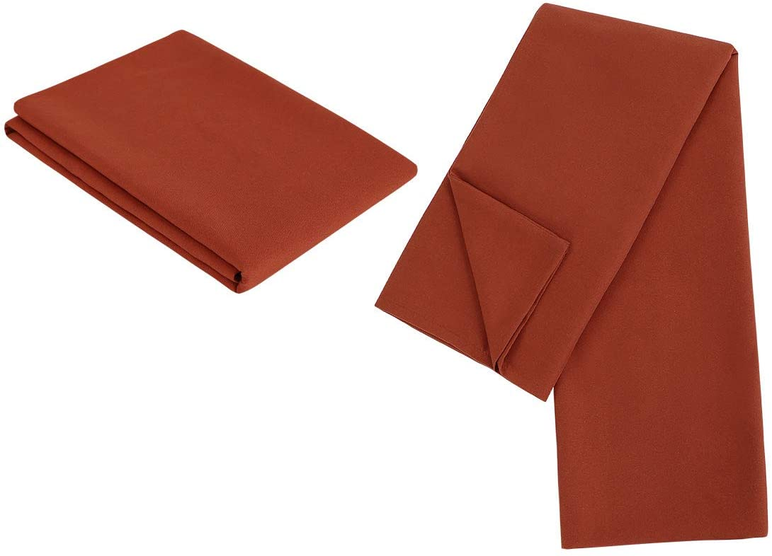 PiccoCasa 2 Packs Body Pillow Case, Luxury 1800 Microfiber Orange Pillowcases No Zipper, Soft Full Body Pillow Covers for Long Pillows Body(20