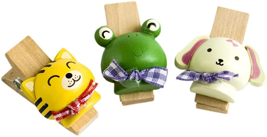[Cute Animals-2] - Wooden Clips / Wooden Clamps / Mini Clips