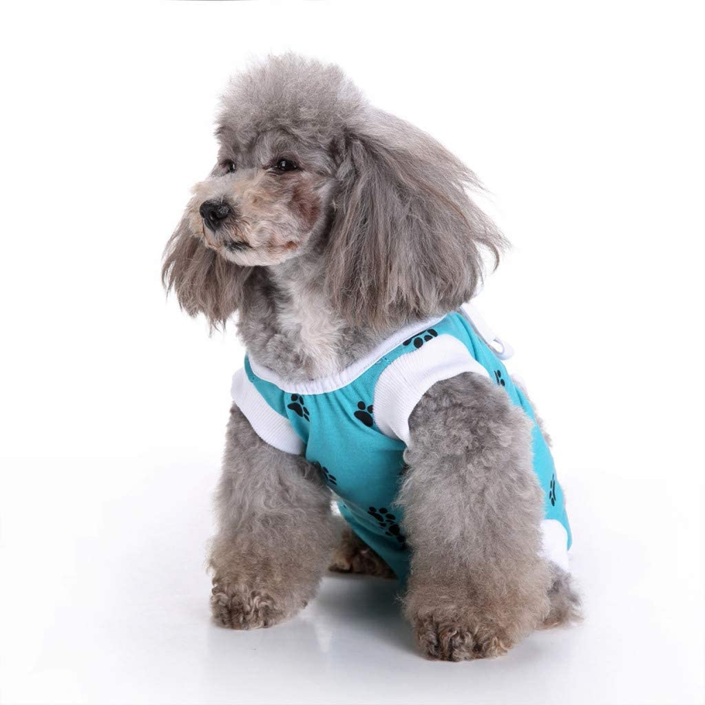 Pet Clothes for Small Dog Cat Dog Pajamas Puppy Clothes Dog Jumpsuit Pet Pajamas Jumpsuits Clothes for Small Dogs and Cats (XS,Blue)