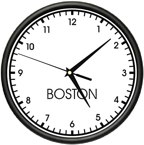 Boston TIME Wall Clock World time Zone Clock Office Business
