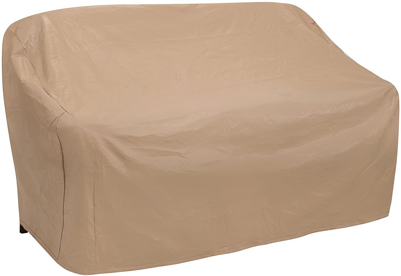 Protective Covers Weatherproof 3 Seat Wicker/Rattan Sofa Cover, Large, Tan (1127-TN)
