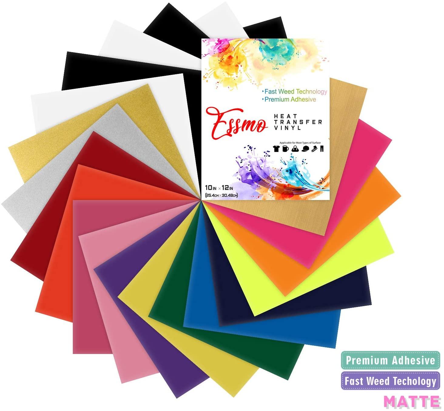 36Pcs 36 Colors Heat Transfer Vinyl 12