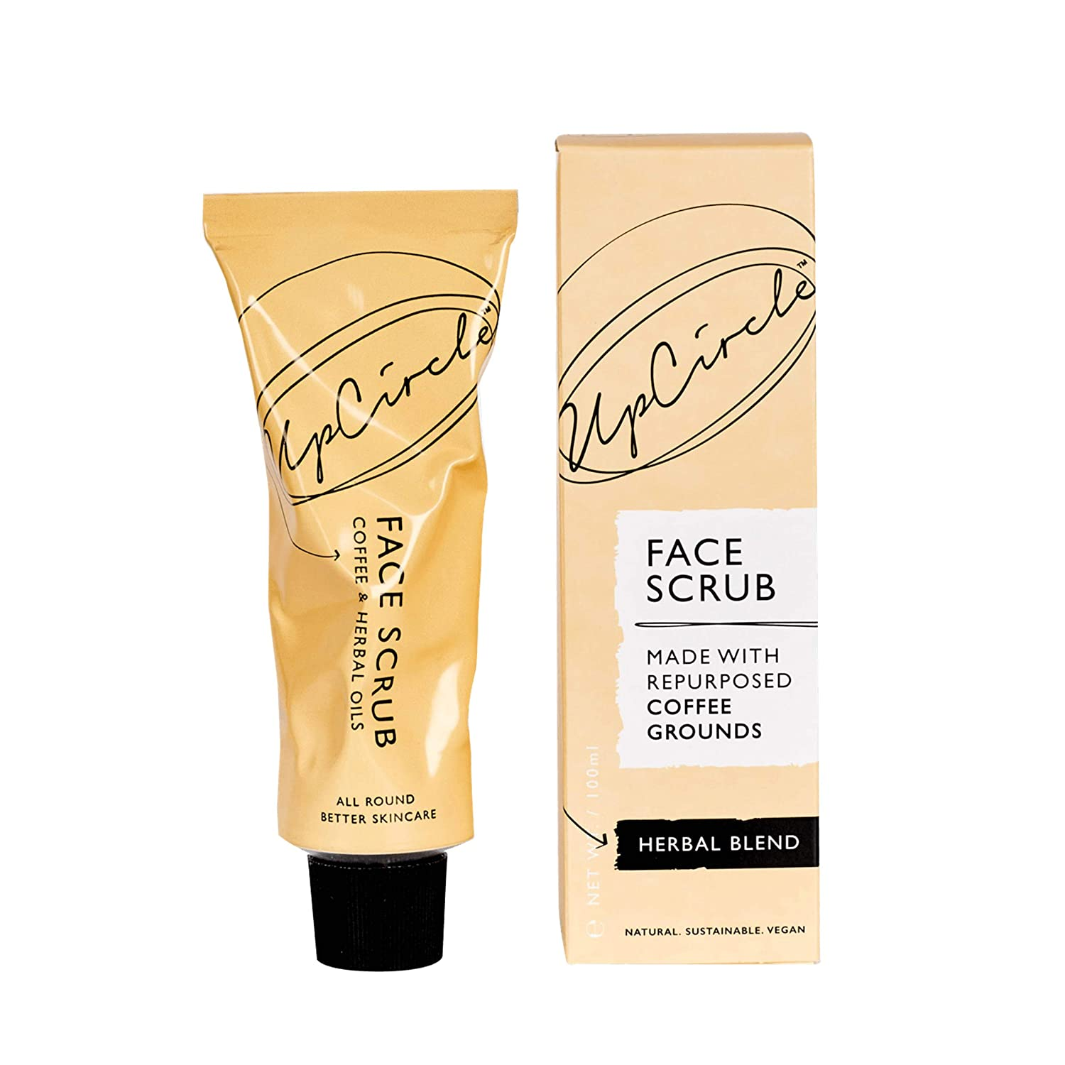 UpCircle Coffee Face Scrub - Herbal Blend For Oily Combination Skin 3.5oz