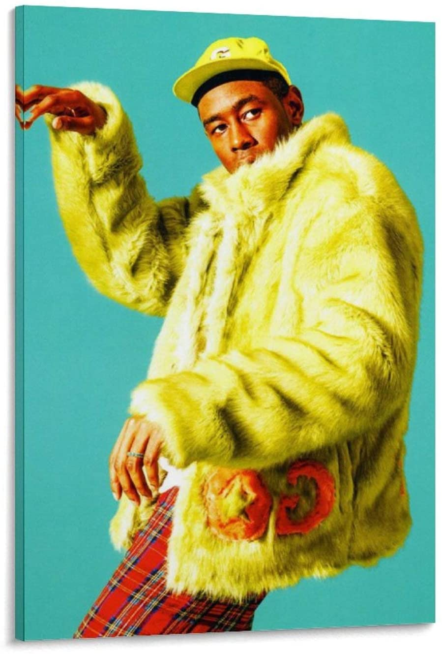 Tyler The Creator Yellow Poster Decorative Painting Canvas Wall Art Living Room Posters Bedroom Painting 20x30inch(50x75cm)