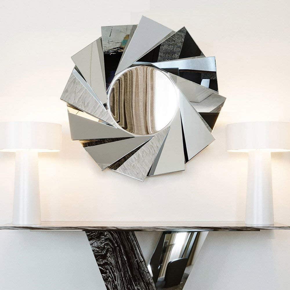 ZURI Aperture Round Silver Mirror