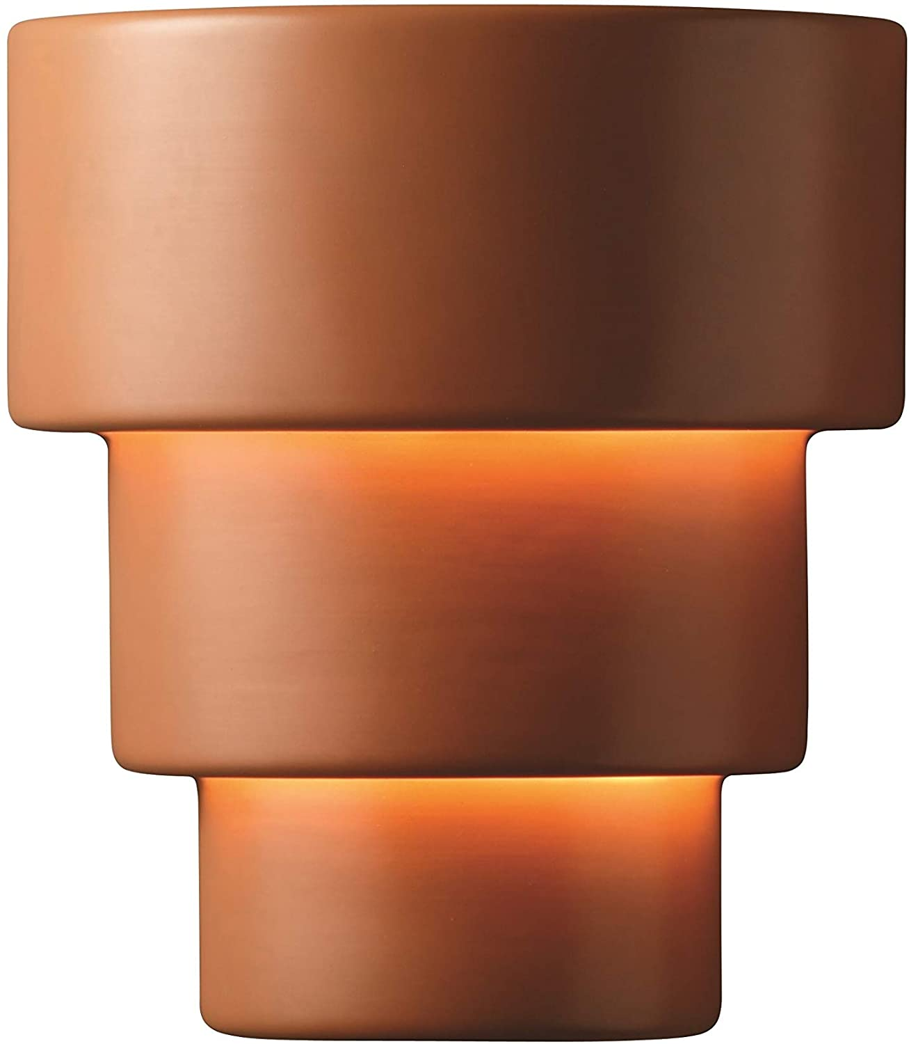 Justice Design Ambiance Terra Cotta Outdoor Large Terrance Wall Sconce