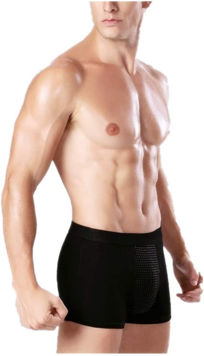 Yeawooh Men's Physiological Underwear, Enlargement Underpants Health, Boxer Shorts Tourmaline Prostate Magnetic Therapy
