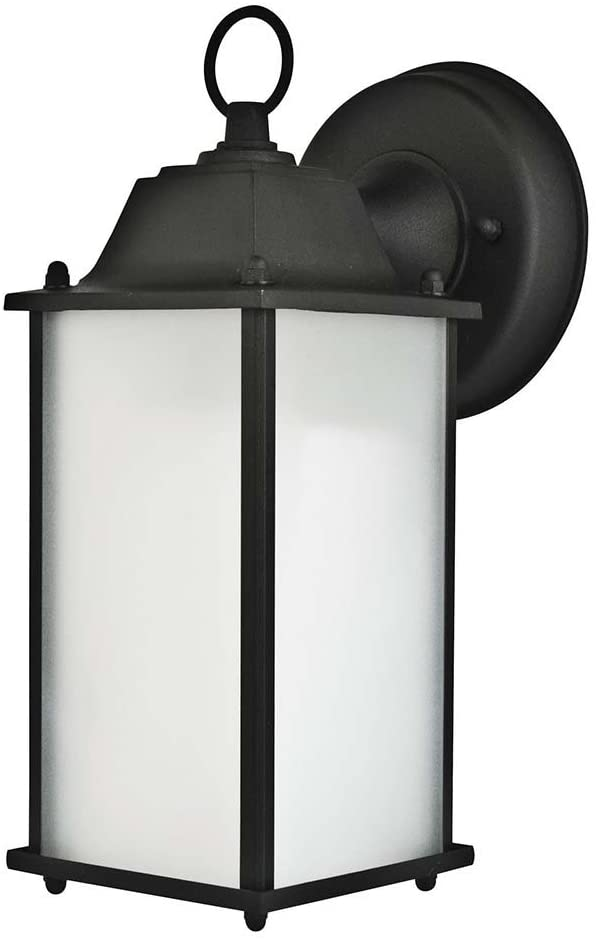 Sunset Lighting F7905-62 Outdoor Wall Lantern with Frosted Glass, Rubbed Bronze Finish