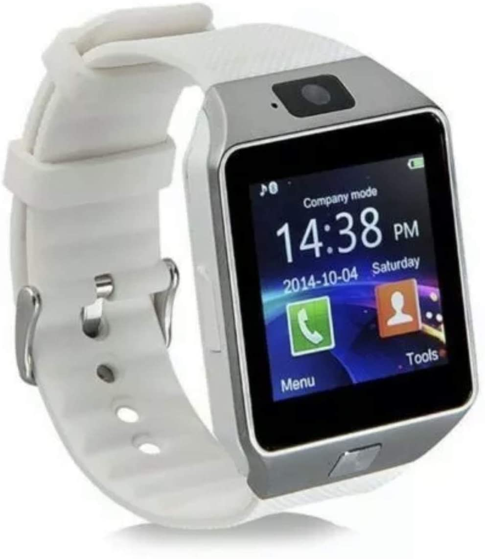 DZ09 Bluetooth Smart Watch Camera Phone Mate GSM SIM for Android iPhone Samsung (White)