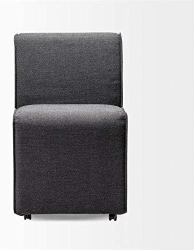 Mercana Damon Grey Slip-Cover Fabric Wheel Base Dining Chair (Set of 2)