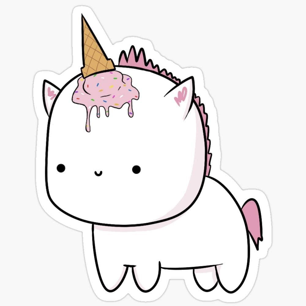 BeliNZStore Pink Unicorn Stickers (3 Pcs/Pack)