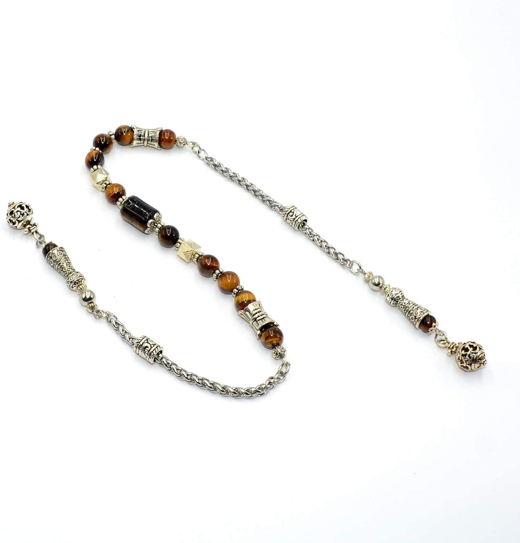 -Zaza Collection- Zaza Stress Worry Beads-Prayer Beads-Tesbih-Tasbih-Tasbeeh-Misbaha-Masbaha-Subha-Rosary (Tiger Eye Stone)