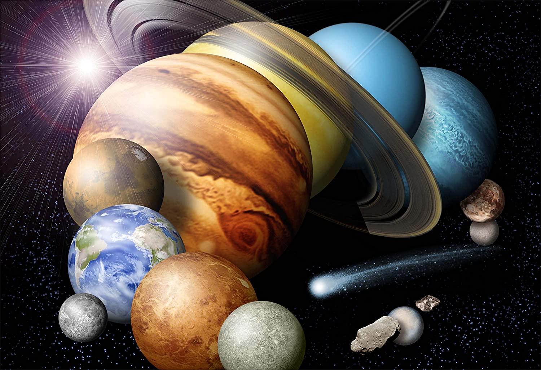 New Horizon Aviation, LLC Solar System NASA Graphic Hi Gloss Space Poster Fine Art Print