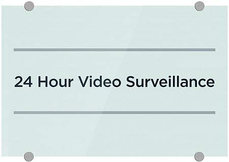 CGSignLab |24 Hour Video Surveillance -Basic Teal Premium Brushed Aluminum Sign | 18x12