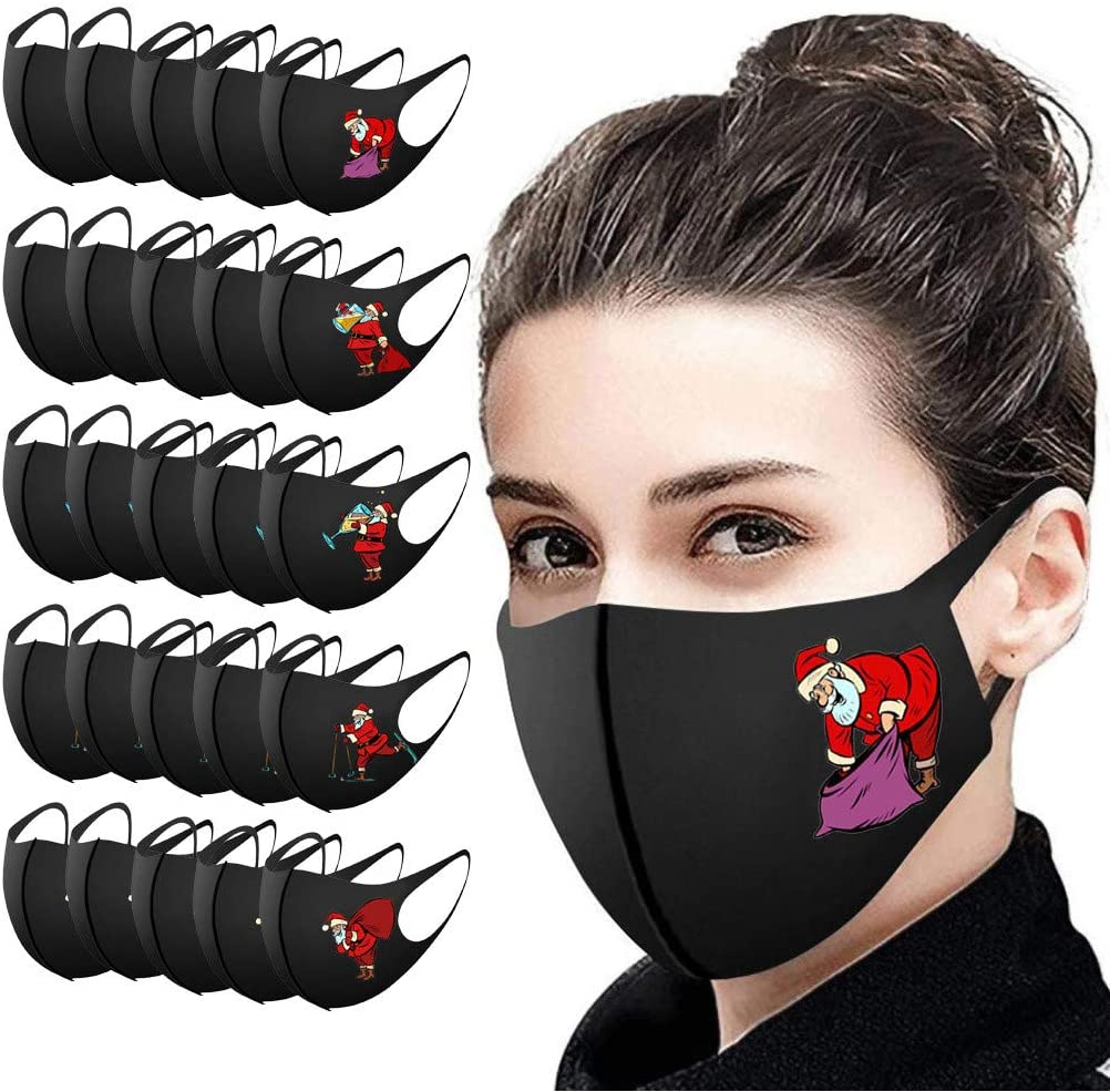 Cotton Printed Adult Face_Mask,Reusable Comfy Breathable Outdoor Fashion Face Covering Protections Man and Woman (25, C)