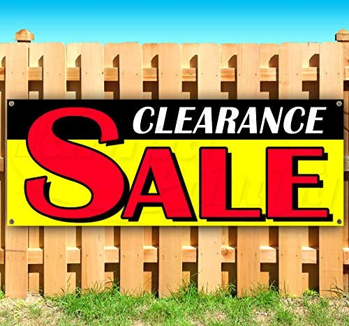 Clearance Banner 13 Oz Heavy Duty Vinyl Banner Sign with Metal Grommets, Flag