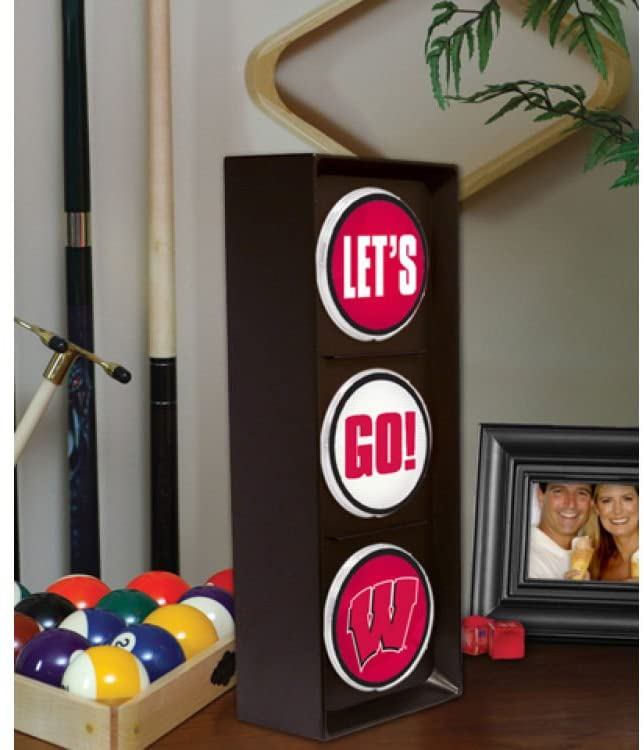 The Memory Company Wisconsin Badgers Flashing Let's Go Light
