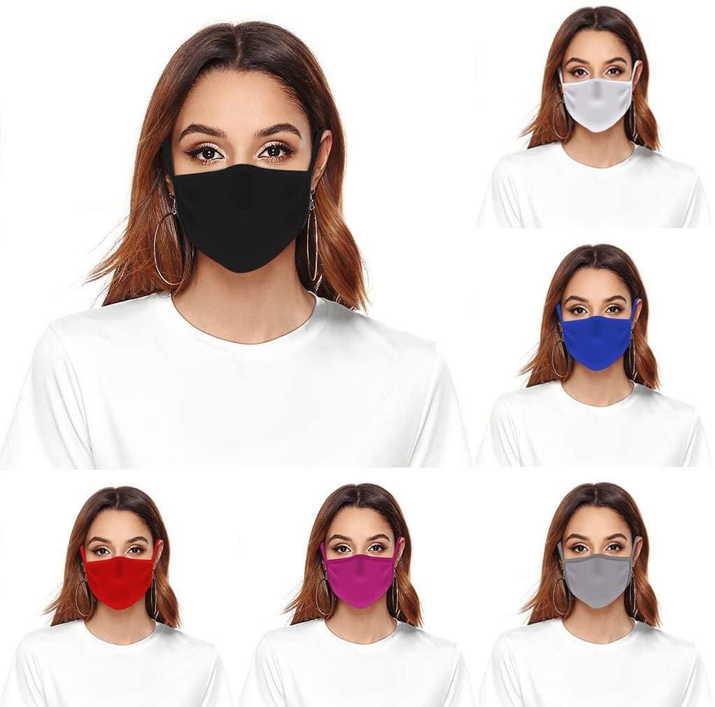 6 PCS Facial covering Adult Women Men Sports Safety Reusable Washable Anti Dust