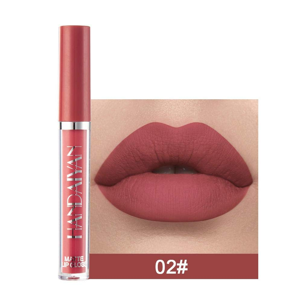 Matte Liquid Lipstick - Non-fading Non-stick Lip Gloss, Long-Lasting Matte Finish, Smoother Than Lip Gloss, Highly Pigmented Color, Natural Make Up Tool Supplies