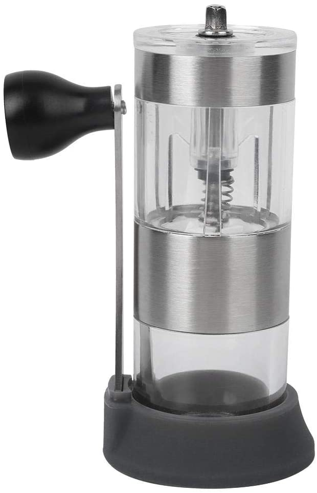 with Lengthened Grinding Handle Hand Crank Manual Coffee Grinder, Adjustable Coffee Machine, Non-Slip Base Small Body for Business, Camping Hiking,Traveling