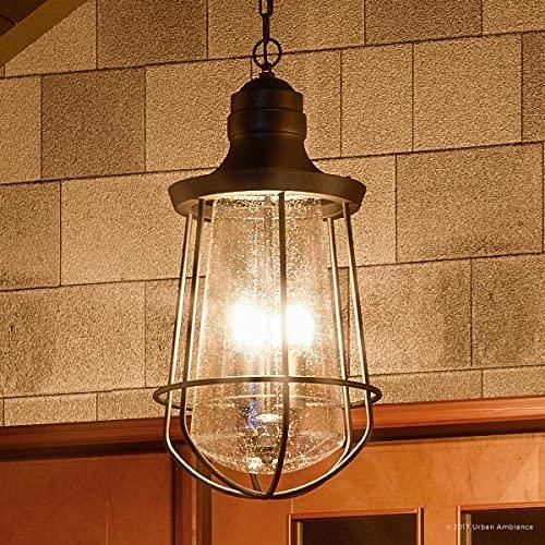 Luxury Vintage Outdoor Pendant Light, Large Size: 20