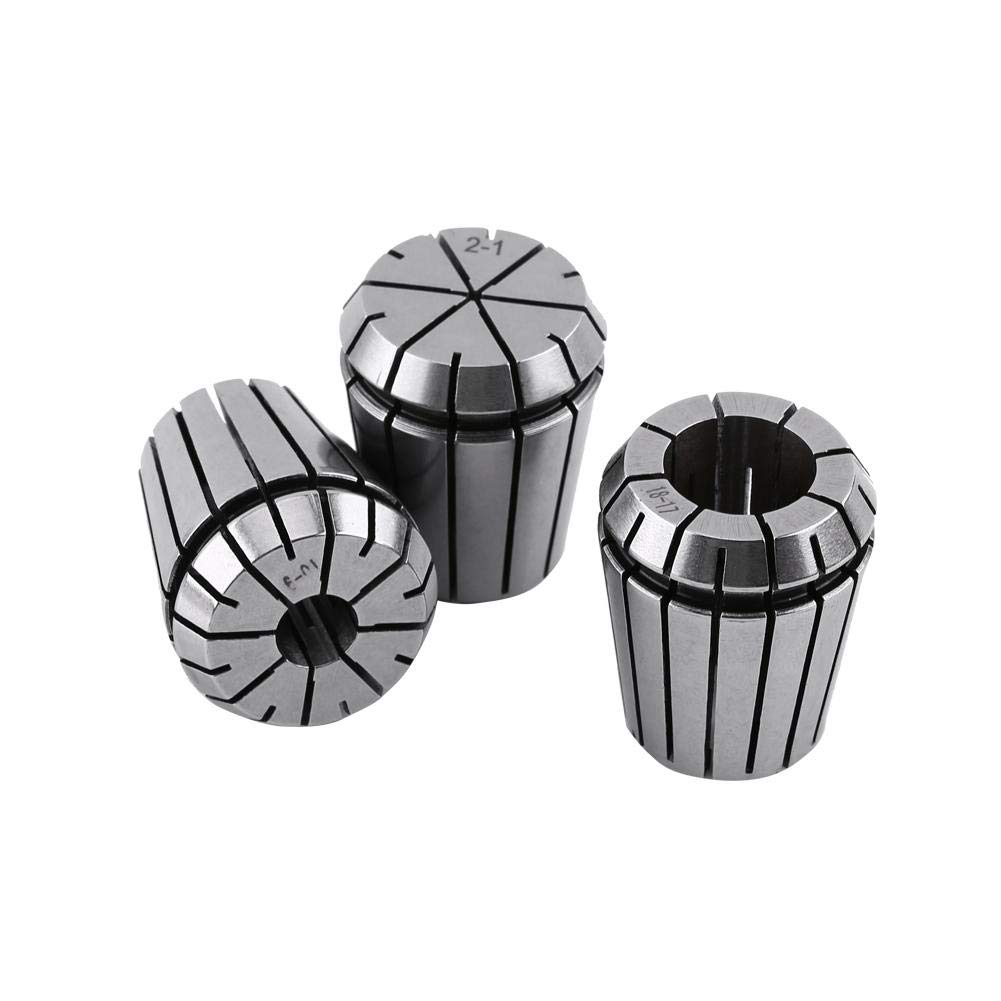 Spring Collet, 9Pcs ER32 2-20mm Spring Collet Set 65Mn Spring Steel Engraving Collet for CNC Engraving Machine and Milling Lathe Tool