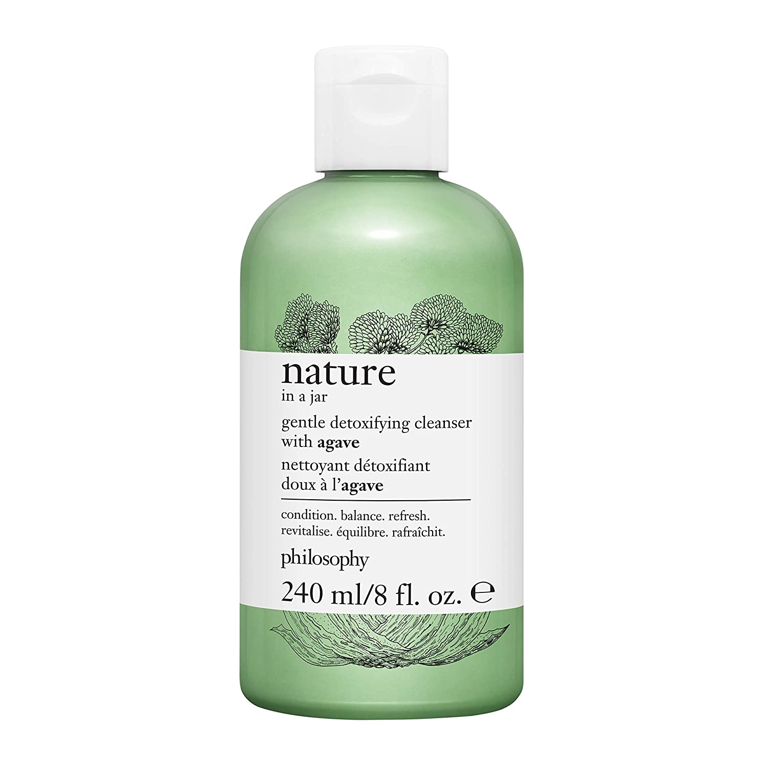 philosophy nature in a jar - gentle detoxifying cleanser with agave, 8 oz