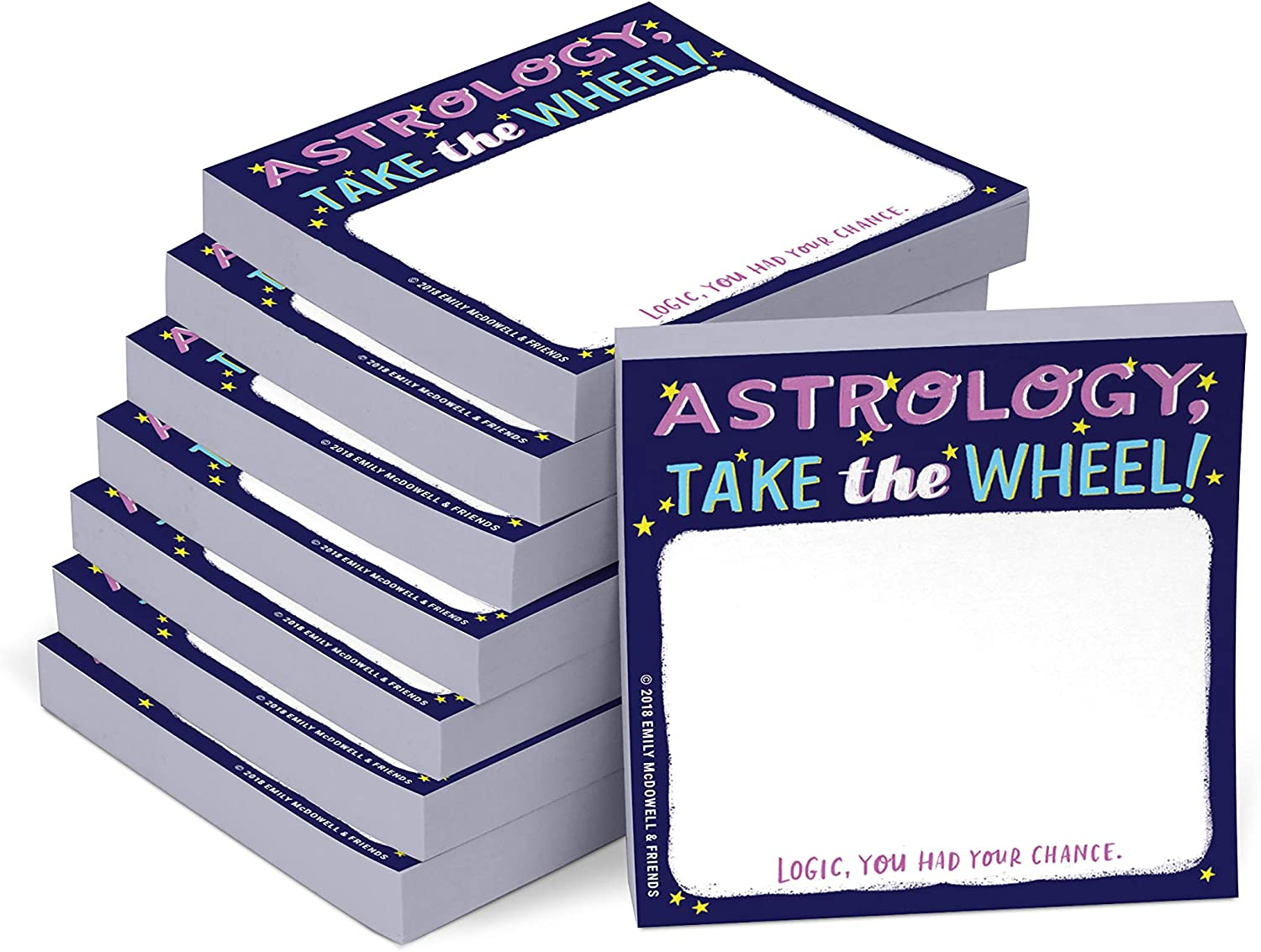 Emily McDowell & Friends Astrology Sticky Notes, 3 x 3-Inches, 8-Count