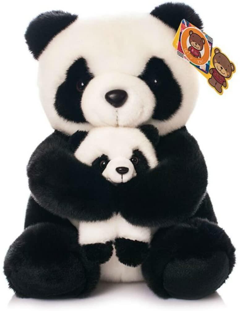 Cute rabbit 12 inch Mum and Baby Panda Plush Toy Stuffed Animal Toy Plush Animal Doll (2)