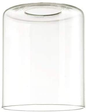 OhLectric Clear Cylindrical Glass Shade OL-39131- Handmade Large Table Lamp Shade - Replacement Neckless Cylindrical Glass Globe - Customisable Shade - Standard 2 ¼ Inches(Pack of 6)