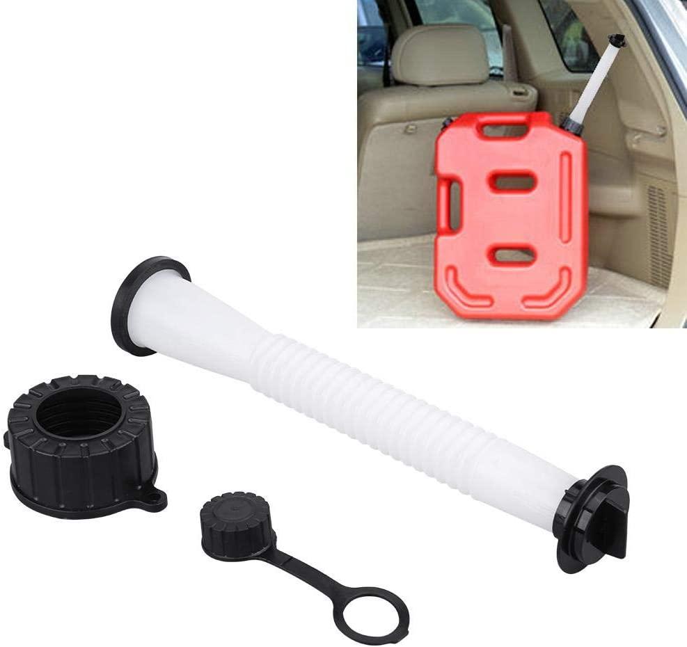 Gas Can Flex Spout Kit, Flexible Gas Can Pour Nozzle Set with Gasket Stopper Cap Fuel Tank Spout Replacement for Most GasCan