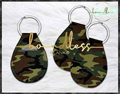Generic - Army Camo Quarter Keeper Holders Army Camo Print Offering Personalization Vinyl Blanks (No.)