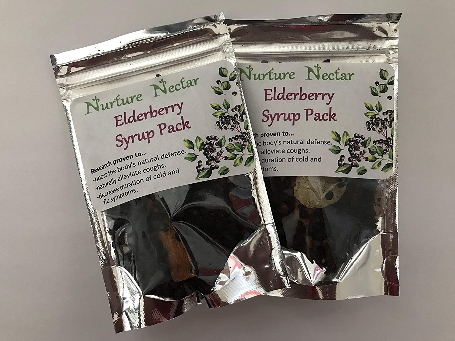 Nurture Nectar Elderberry Syrup Kit - 2 Pack | DIY Immune Support. Just add Water and Honey for a Make at Home Syrup. Each kit Makes 10oz.
