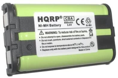 HQRP Phone Battery Compatible with Panasonic KX-TG2302B KX-TG2312W KX-TG2313F KX-TG2313P KX-TG2313W KX-TG2314PK Cordless Telephone Plus Coaster
