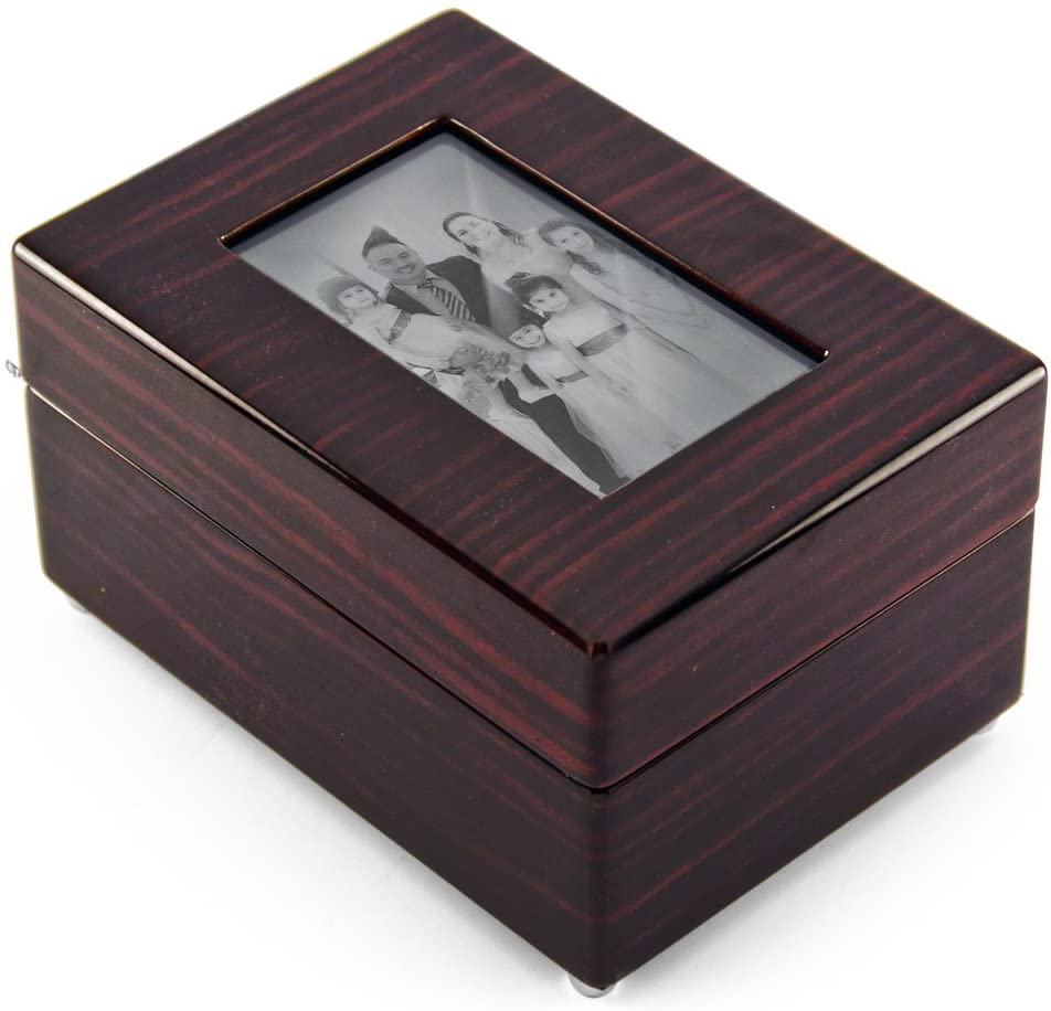 Modern 30 Note X Photo Frame Musical Jewelry Box - Many Songs to Choose - Beauty and The Beast
