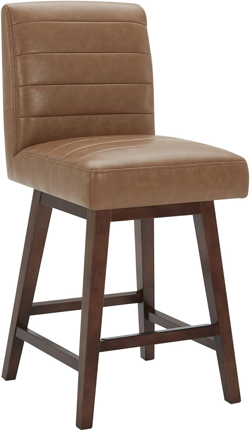 CHITA Modern Counter Height Swivel Barstool, Upholstered Leather Swivel Stool, 26