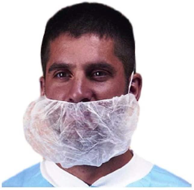 Keystone Jumbo White Latex Free Polypropylene Stockinet Beard (100 Per), Package Size: 10