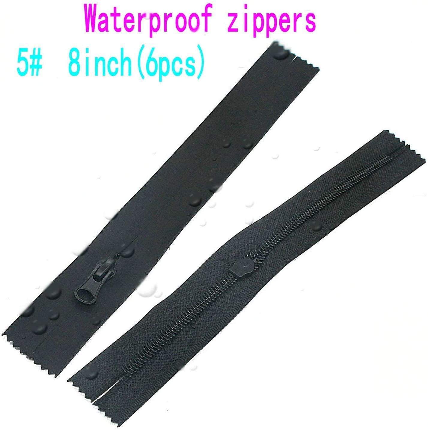 Leekayer 6PCS #5 Waterproof Zippers 8