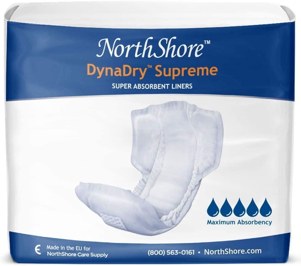 NorthShore DynaDry Supreme Liners, Medium, Case/112 (4/28s)