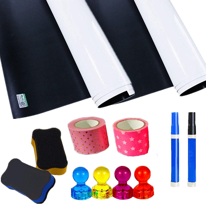 The Accessories are in Random Colors, Dry Erase Contact Paper, Children's Graffiti Blackboard Stickers, 17.71' 11.81'' whiteboard Stickers (2 Sheets)