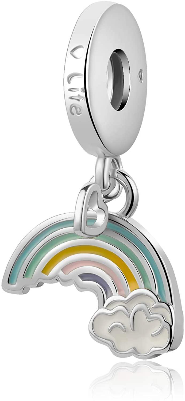 Luluadorn Rainbow Bridge Dangle Charm Beads for Bracelets Mom Sister Birthday Gifts