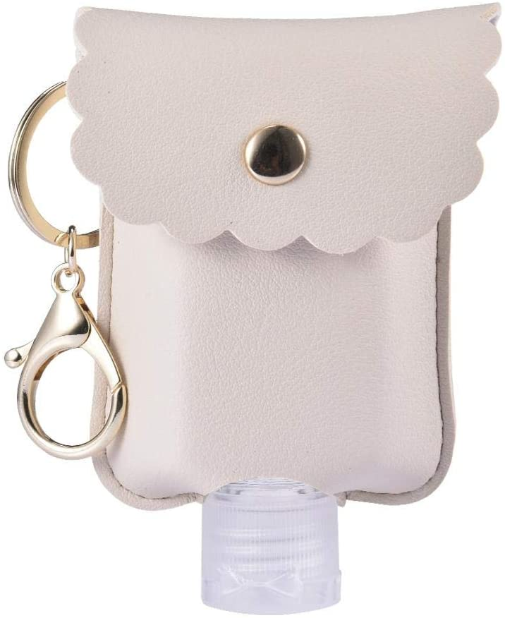 Hand Sanitiser Gel Holder Keyring Lanyard Bottle Key -Travel Squeeze Bottle Empty Leakproof Plastic Bottle With Keychain Refillable Flip Cap Refillable Bottles For Hand Sanitizer -Essential Oil 60mL