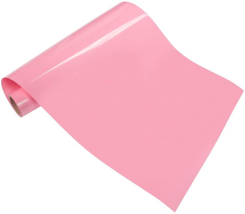 Pink Heat Transfer Vinyl HTV Sheets 12 x 20 for Tshirt Fabrics 2-Pack