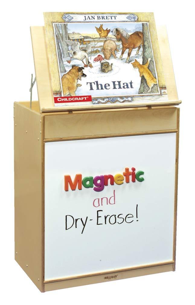Childcraft 204150 Mobile Magnetic Dry Erase Language Center, Double-Sided, Birch Veneer, 4-Coat UV Acrylic, 32-5/8