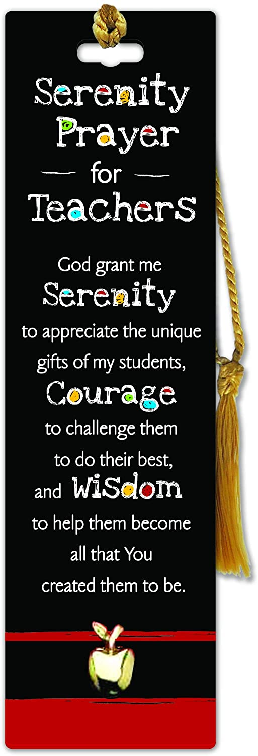 Cathedral Art Bookmark - Teacher Serenity Prayer, One Size, Multicolored