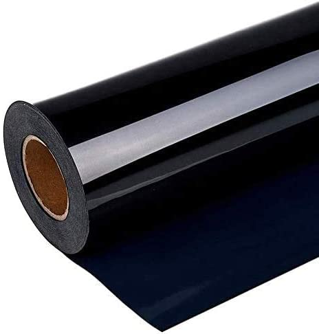 HISRAY Premium Heat Transfer Vinyl HTV Rolls for T- Shirts 12in.x12ft. Easy to Weed & Cut Iron on HTV Vinyl, Compatible with Silhouette, Kricut and Other Cutter Machine - DIY Design (Black)