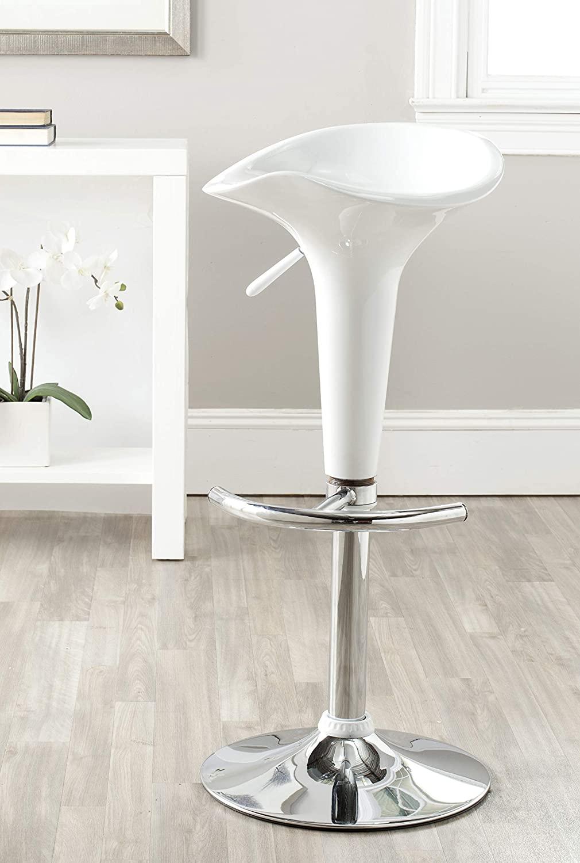 Safavieh Home Collection Jataya White Adjustable Swivel Gas Lift 24-32.5-inch Bar Stool
