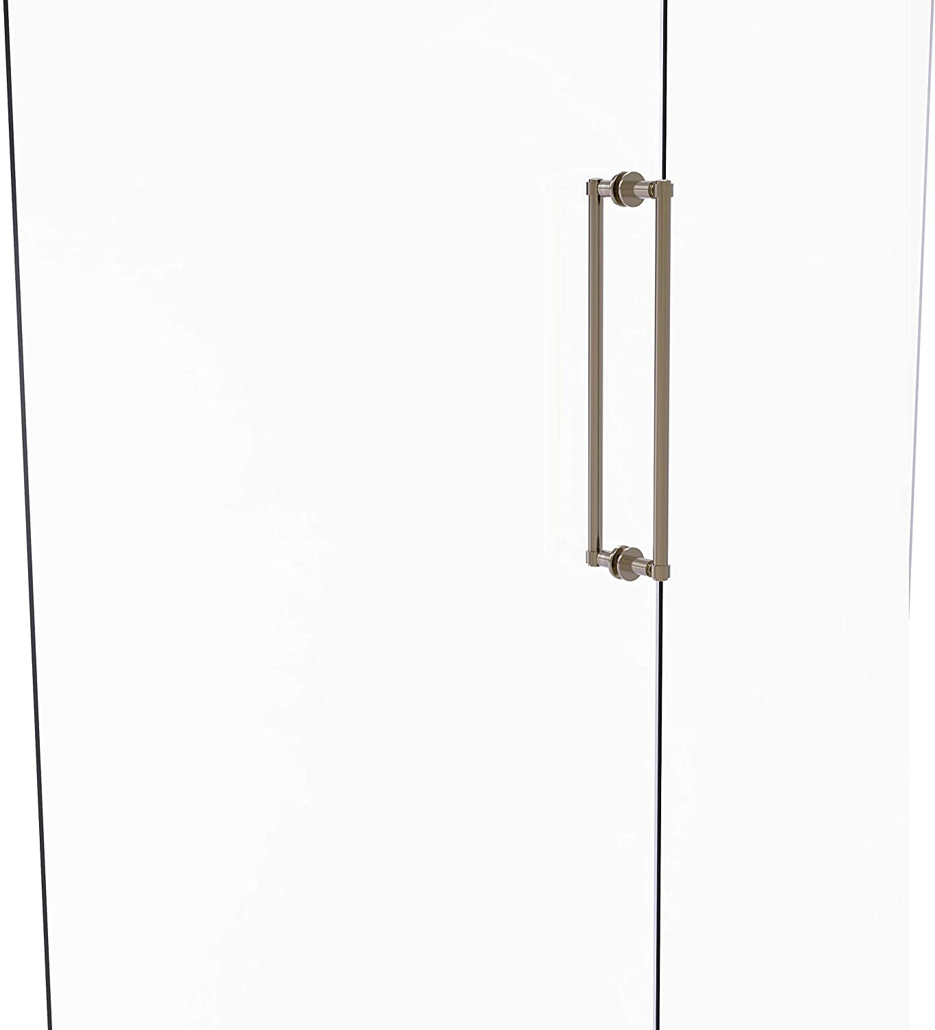 Allied Brass 405-18BB Contemporary 18 Inch Back Shower Door Pull, Antique Pewter