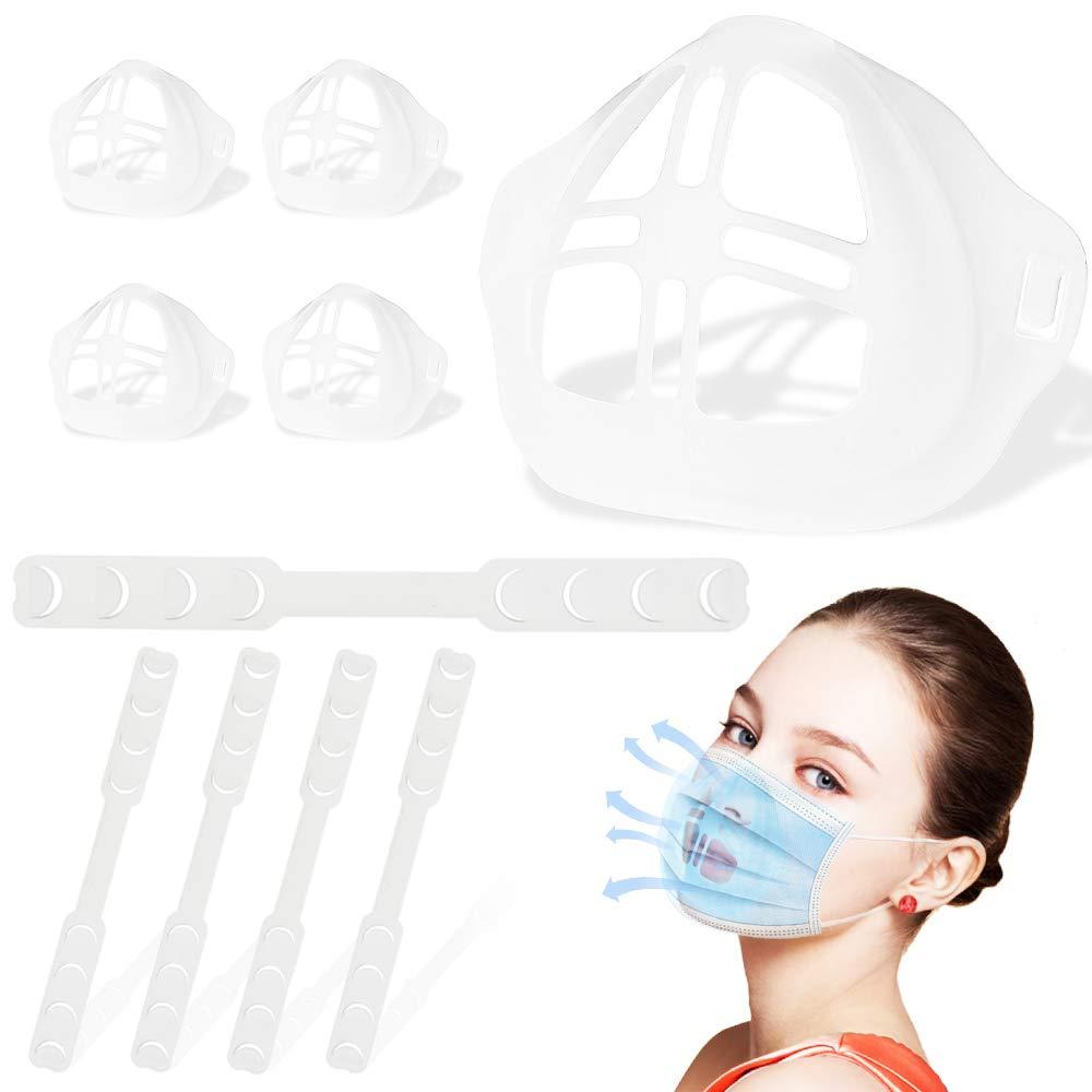 5 Pcs 3D Mask Bracket Kits - LUXSENZ Face Masks Accessories - 5 Pcs Mask Extender Straps